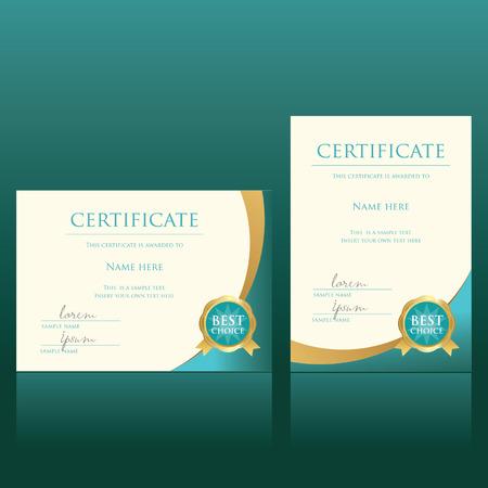 Zertifikat-Vektor-Vorlage Standard-Bild - 36020261