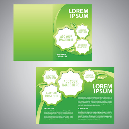 brochure Vector template Vettoriali
