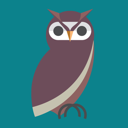simplified: owl vector Illustration
