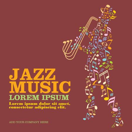 saxofón: cubierta de jazz