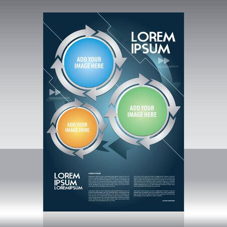 magazine template: Vector business brochure, flyer & poster template