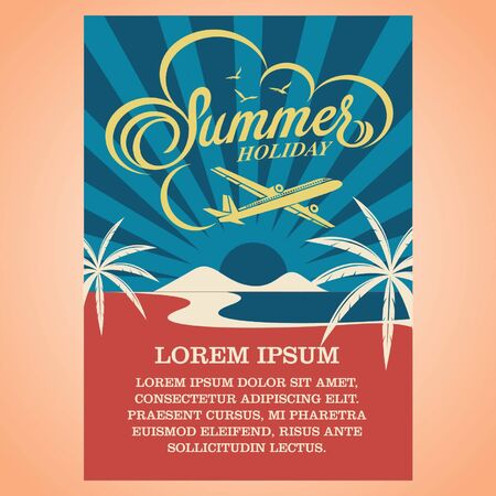discount banner: summer holiday advertising design template