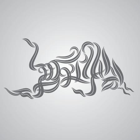 bull tribal tattoo vector
