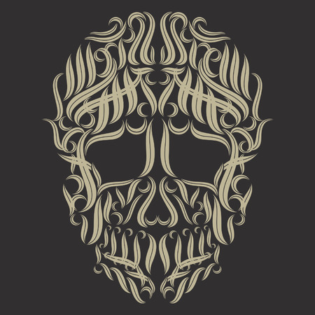 schedel tribal tattoo vector