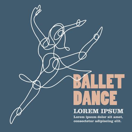 stage performer: ballet dance Illustration