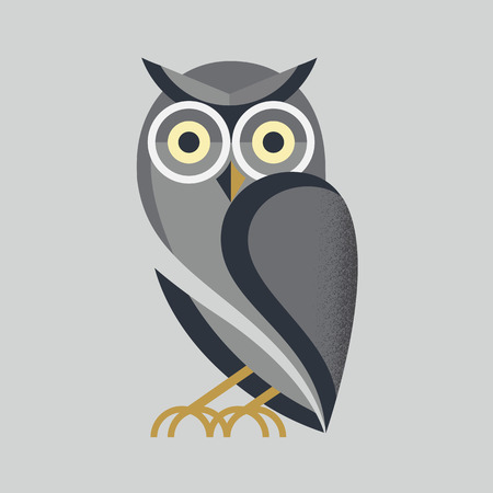wings logos: owl vector Illustration