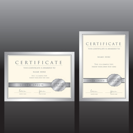 credentials: certificate vector template
