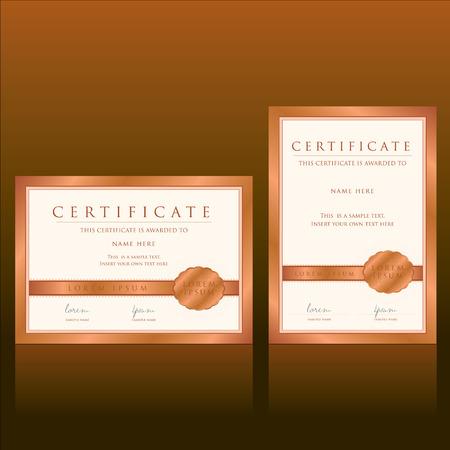 certificate vector template