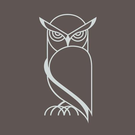 owl vector Illusztráció