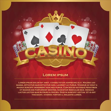 カジノ背景火かき棒およびカジノのラベル