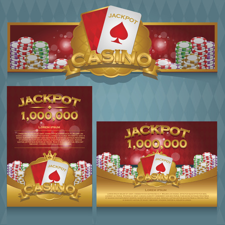 Casino background poster and banner
