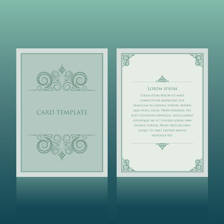招待カード  イラスト・ベクター素材
