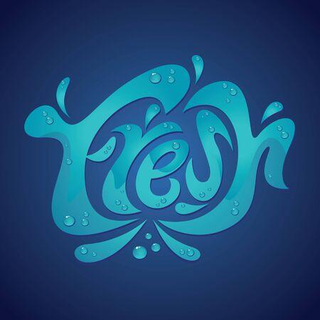 fresh water splash: Frischwasser splash Illustration