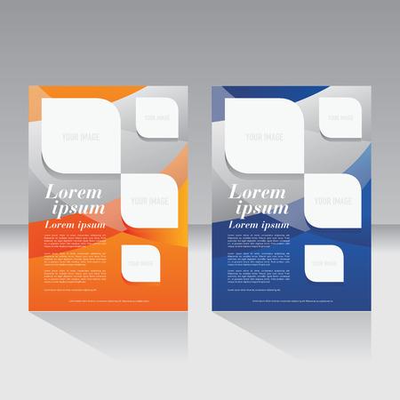 雑誌の表紙、パンフレット、チラシ、ポスターのレイアウト テンプレート  イラスト・ベクター素材