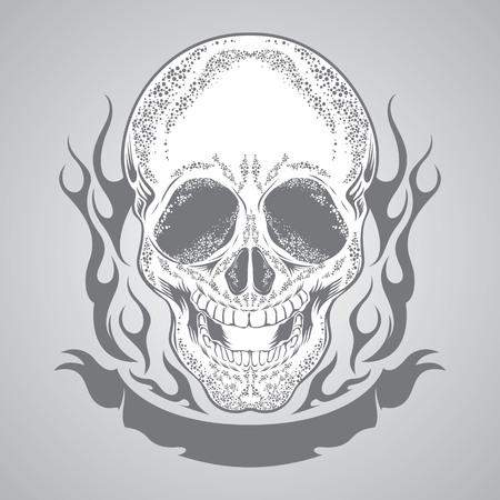 racing sign: skull vector