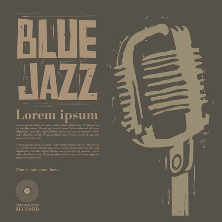 blue jazz vector