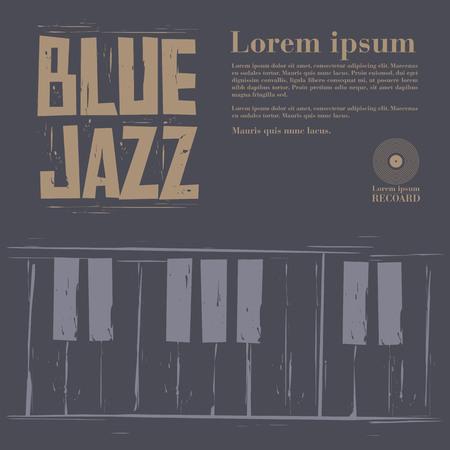 blue jazz vector