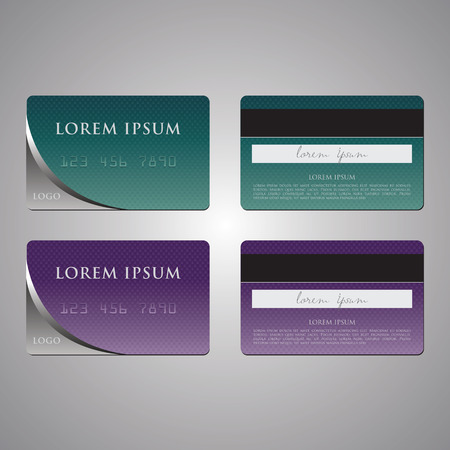 visitekaartje: business card and credit card vector templates