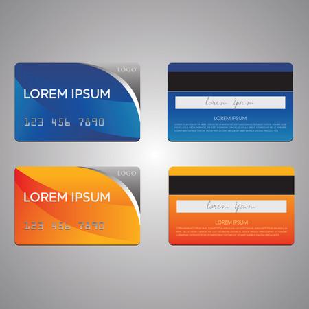 Visitenkarte und Kreditkarte Vektor-Vorlagen