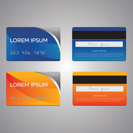 business card and credit card vector templates