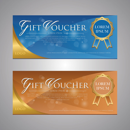 blank check: Gift voucher template