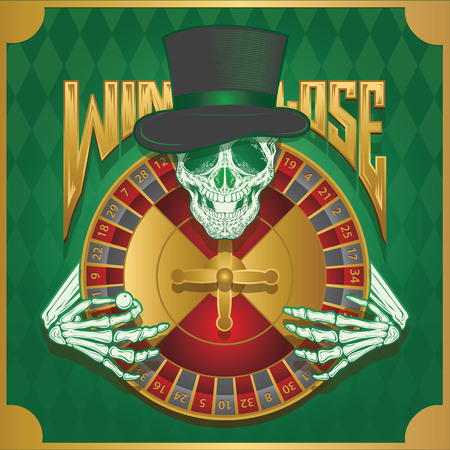 damnation: win or lose roulette wheel Illustration