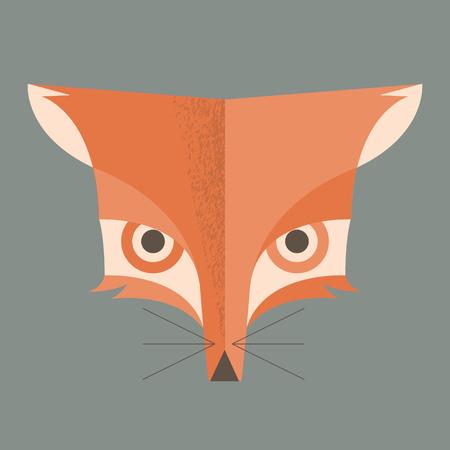 head profile: fox vector