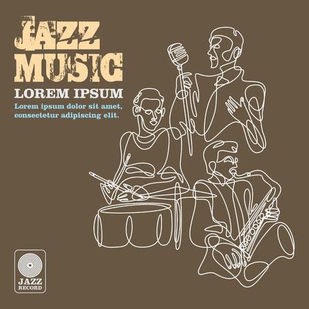 악기와 재즈 음악 플레이어.