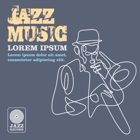 jazz music players with instruments.