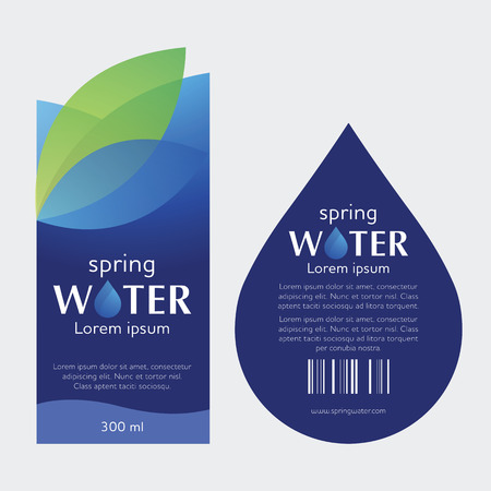 Drinking Water Label Imagens - 75258218