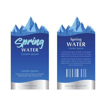 water label template