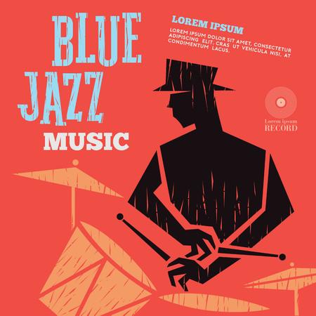 blue jazz music Illustration