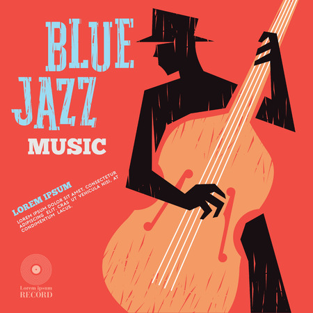 blue jazz music Stock Vector - 80568660