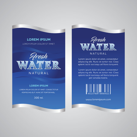 Drinking Water Label vector illustration.