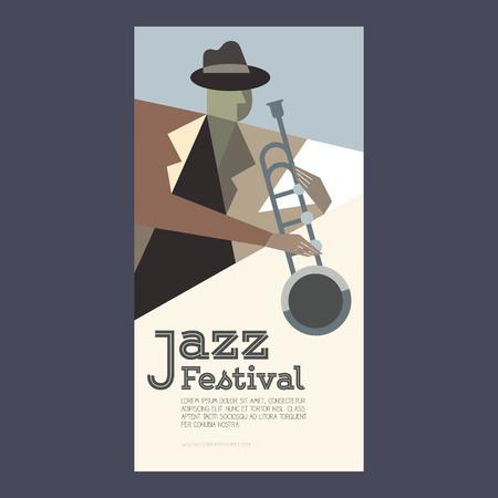 jazz poster template vector illustration Illustration
