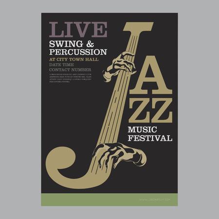 jazz poster template  Vector illustration.