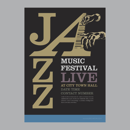 jazz poster template Vector illustration.