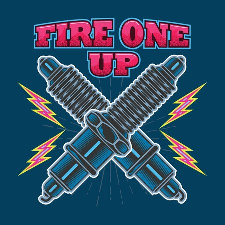 Fire one up design graphic illustration vector