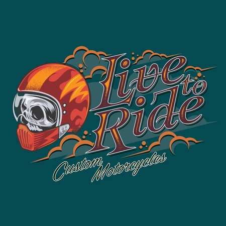 Live ride vector Illustration