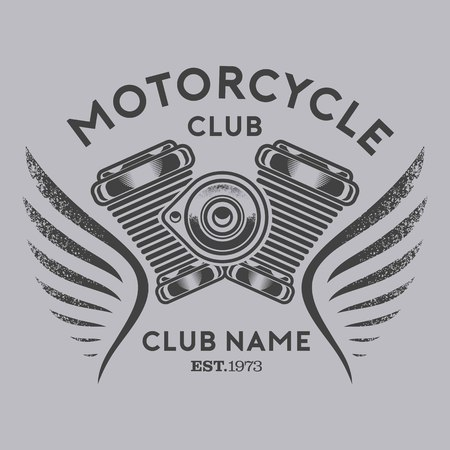 オートバイクラブベクトル  イラスト・ベクター素材