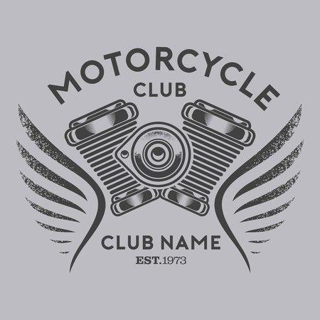 motorcycle club vector