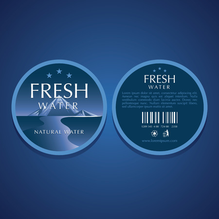 water label vector templates Illustration