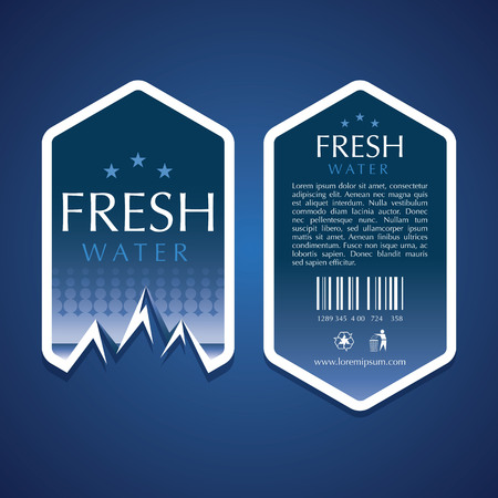 water label vector templates Ilustração