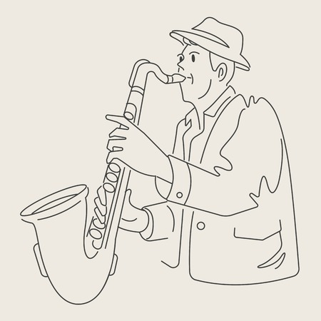 cartoon jazz character Illustration