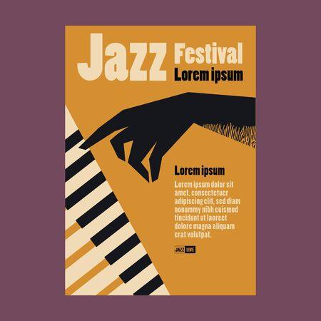 Jazz Festival Poster Vettoriali