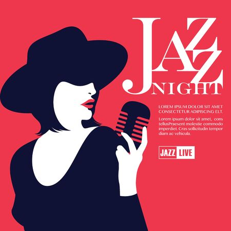 Lady Jazz Night Illustration