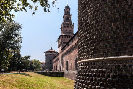 sforza: Sforza Castle is a castle in Milan, Italy,