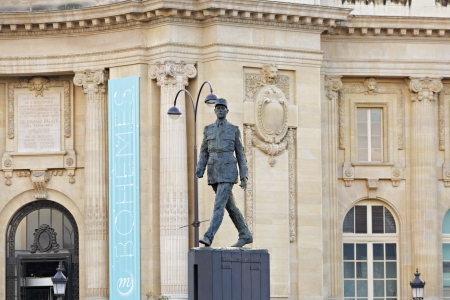 Monument to French general and statesman Charles de Gaulle on the Avenue des Champs-Elysees, in Paris, France Stock Photo - 17455836