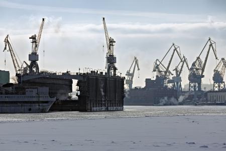 Cargo port. Saint-Petersburg terminal, Russia Stock Photo - 18019146
