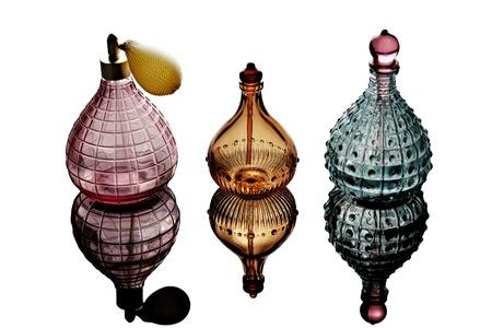 Perfume Bottles isolated on white background photo